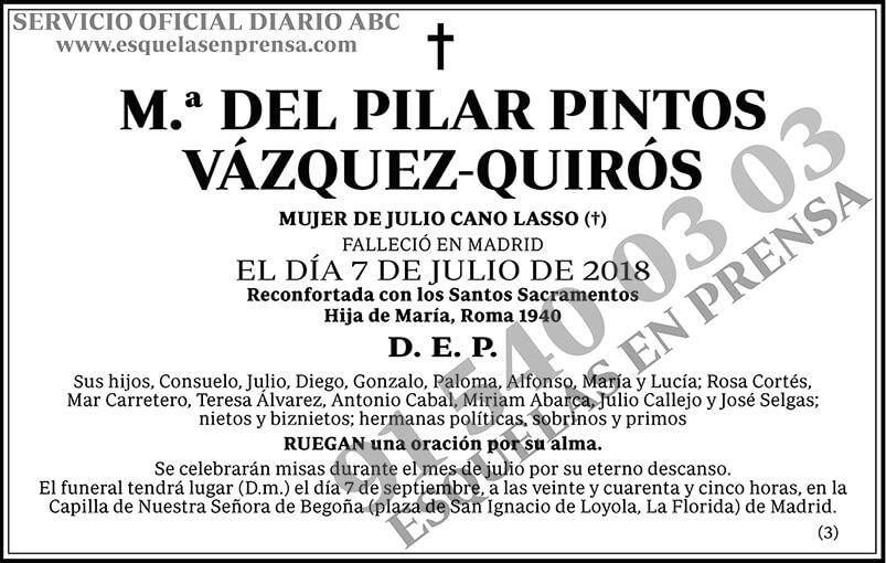 M.ª del Pilar Pintos Vázquez-Quirós
